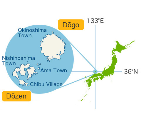 Location of Oki Islands